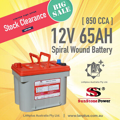 12V 65AH Spiral Wound Dual Purpose Battery 850 CCA Deep Cycle Battery as Optima