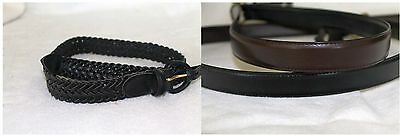 Youth Leather Belts  Flat and Braided NEW  School uniform