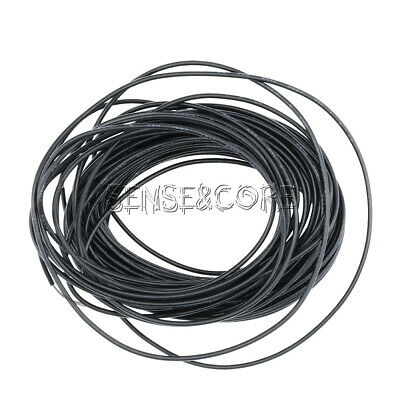 Flexible Stranded of Hook-up UL 1007 24 AWG wire cable Black 10M 300V New
