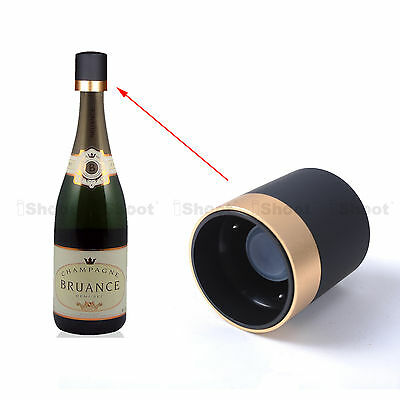 Reusable Champagne Stopper Wine Bottle Cap Preserver Replacement for Cork Gold
