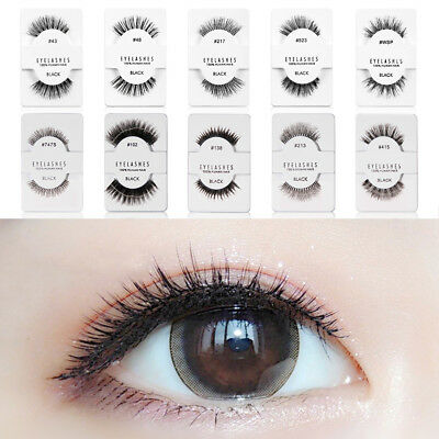 Lash Like Red Cherry 100% False Human Hair Eyelashes Makeup Adhesives Handmade