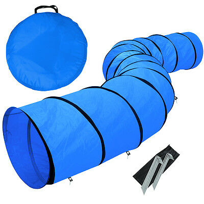 5.5M Outdoor Dog Pet Agility Training Open Tunnel Equipment Obedience Exercise