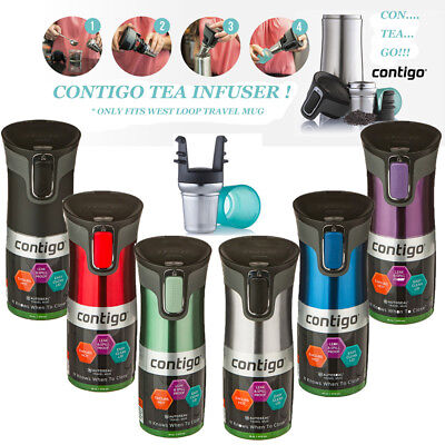 Contigo West Loop Autoseal Insulated Travel Mug +Tea Infusion - Free Express
