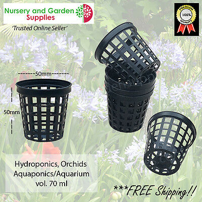 50mm NET Pot (various pack sizes) for orchids, hydroponics, aquaponics, etc