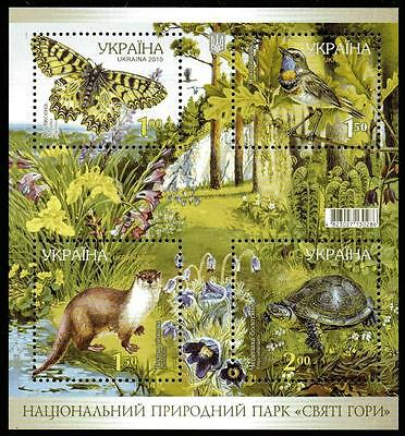 Ukraine Mnh 2011 National Park Minisheet