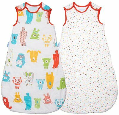 Grobag Baby Sleeping Bag Spotty Bear TWIN pack 0 - 6 6- 18 18- 36 mth 2.5 tog