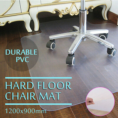 Home Office 120 x 90cm Frosted Lipped  Hard Carpet Protector Chair Mat Anti-slip