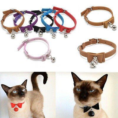 Pet Cat Kitten Puppy Soft Collar Safety Buckle Neck Strap With Bell Adjustable
