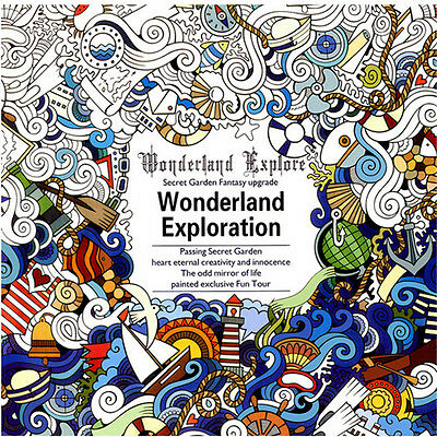 Anti-stress Adults English Painting Coloring Books Secret Garden (Wonderland)