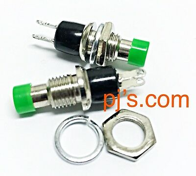 Green Mini Momentary On/Off Micro Switch 2pins 0.5A