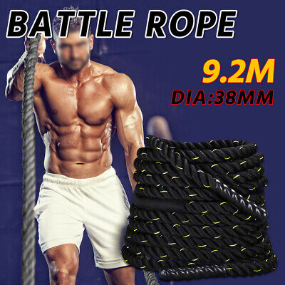 AU 9.2M 38mm Sports Gym Training Battling Power Rope Bootcamp Exercise Fitness