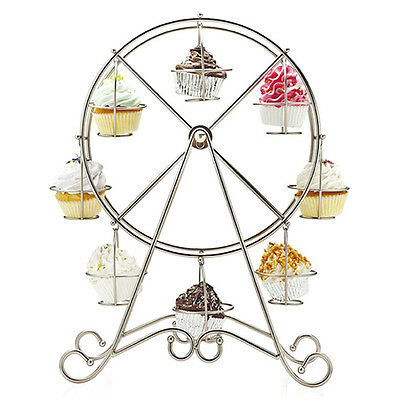 Ferris Wheel 8 Cups Stainless Steel Cupcake Stand Holder Decorating Wedding