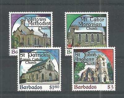 Barbados 2013 Places Of Worship Sg,1400-1403 Um/m Nh Lot 747A