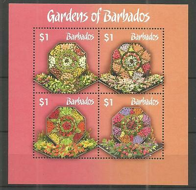 Barbados 2014 Gardens Minisheet Um/m Nh Lot 753A