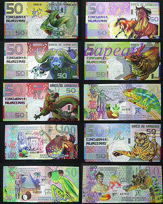 10pcs Different Animal paper money UNC rare Banknotes brand new Uncirculated C18