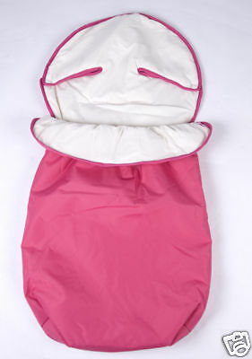 New OBaby Footmuff Pink Fits many brands.  Lined