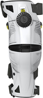 MOBIUS Motocross Offroad X8 Knee Braces Left & Right (White/Yellow) Choose Size