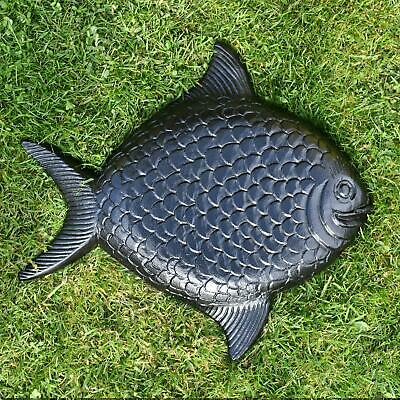 Black Cast Aluminium Fish Garden Stepping Stone