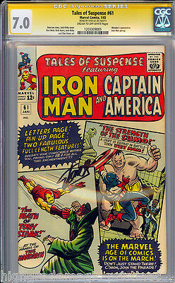 Tales Of Suspense #61 Cgc 7.0 Ss Stan Lee Signed Sig Series Cgc #1203309005