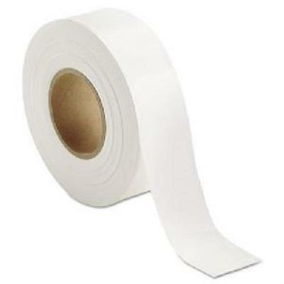 Strait Line Marking White Flagging Tape 1-3/16InW X 300Ft L X 2Mil 65904 12 PACK