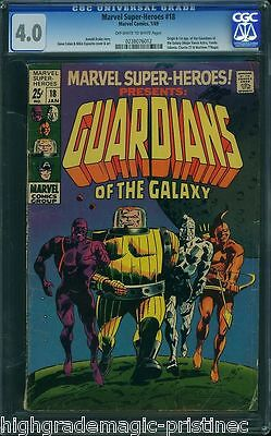 Marvel Super-Heroes #18 Cgc 4.0 Org. 1St App. Guardians Of The Galaxy 0238076012