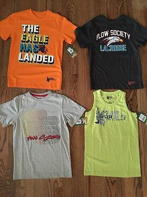 NWT Lot Of 4 Flow Society Lacrosse Boys Tshirts Size XS