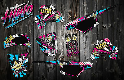 Pw50 Motocross Mx Graphics Decal Kit Peewee 50 Pw 50 Sticker Graphic Kit