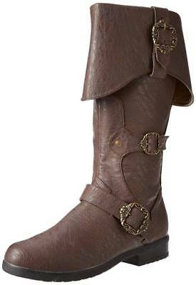 Adult Unisex Caribbean Pirate Captain Brown Halloween Costume Accessory Boots