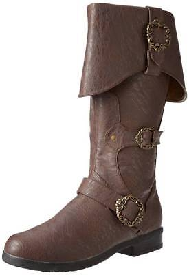 BROWN Adult Unisex Caribbean Pirate Captain Halloween Costume Accessory Boots