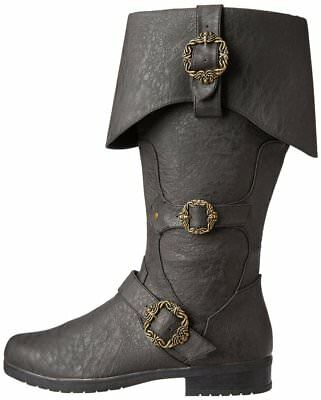 BLACK Adult Unisex Caribbean Pirate Captain Halloween Costume Accessory Boots