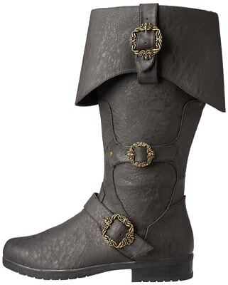 Caribbean Pirate Black Costume Boots