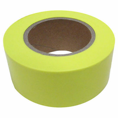 Strait Line Yellow Glow Flagging Tape 1-3/16 In W X 150Ft L X 2Mil T 65605