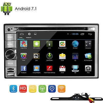 Camera+GPS Navigation Double 2din Car Stereo DVD Player Bluetooth iPod WiFi MP3