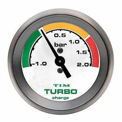 Tim 2 Bar Turbo Boost Gauge Kit, inc Pipe & Fittings , White Face 52mm (700029)