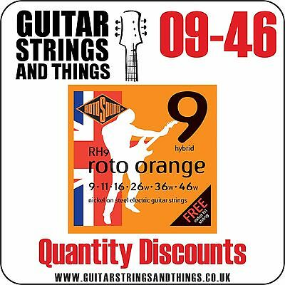 Rotosound RH9 ROTO ORANGE 09-46 Electric Guitar Strings - QUANTITY DISCOUNTS