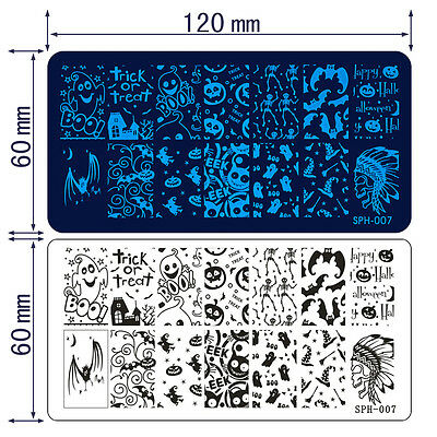 Christmas Halloween Nail Art Printing Image Stamp Plates Xmas Manicure Templates