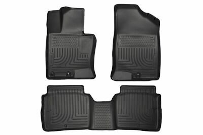 Pack Husky Liners 98281 Weatherbeater Series Black Front and 2nd Seat Floor Liner