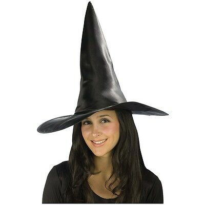 Deluxe Satin Witch Hat Costume Accessory Adult Halloween