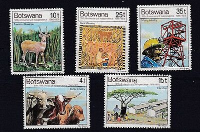 Botswana 1976  S G 381 - 385  10Th Anniversary Of Independence  Set  Mnh