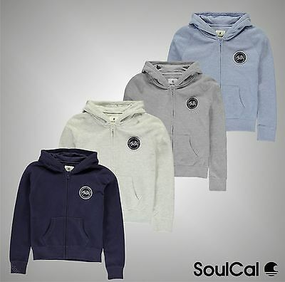 Junior Girls SoulCal 2 Pockets Fleece Lined Signature Zip Hoodie Size Age 7-13