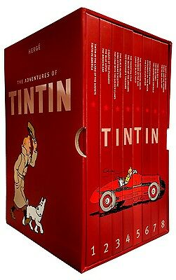 The Complete Adventures of Tintin Collection 8 Livres Coffret