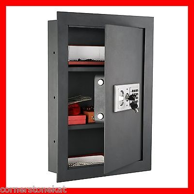 Hidden Wall Safe Gun Storage Valuables Recessed Flat Concealed Electronic Stash