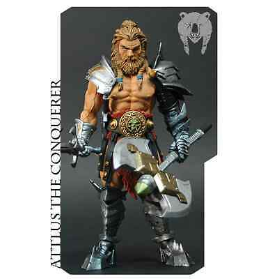 """New Mythic Legions Four Horsemen Attlus The Conquerer Barbarian 6"""" Action Figure"""