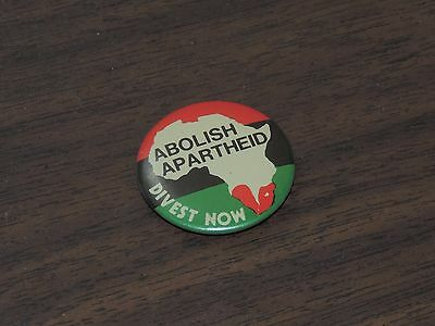 South Africa Vintage 80s Abolish Apartheid Red Black Green Pin