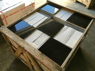 Granite Tiles, Star Galax Black Granite Tile Floor/Wall 305x305x10mm 25m2 JOBLOT