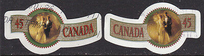 Canada #1568-9 Greeting Picture Wedding  Used