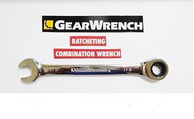 GearWrench Ratcheting Combination Socket Wrench Metric mm SAE Inch flat