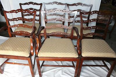 Great Set of Six Chippendale Mahogany Dining Chairs, 2 Armchairs & 4 Side Chairs