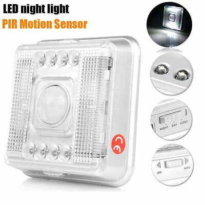 Battery Power LED Wireless Motion Sensor Night Light Cabinet Wardrobe Wall Lamp