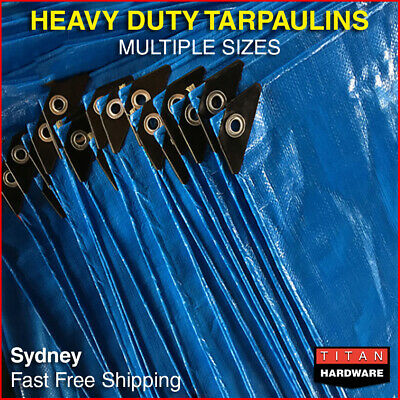 Heavy Duty Tarps Tarpaulin Camping Poly Cover Waterproof Caravan Truck Ute UV